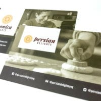 business card printing persian delights