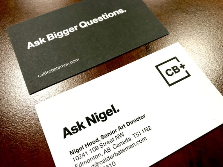 Calder Bateman Nigel Printed Business Card