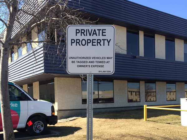Traffic Signs Parking Lot Signs Private Parking Edmonton